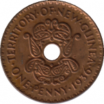 A One Penny Coin of New Guinea