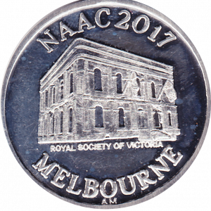 The unique NAAC2017 Medallion in Fine Silver auctioned at the NAAC2017 dinner