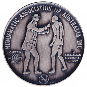 Common Obverse for NAAC2017 Medallions struct by the Adelaide Mint
