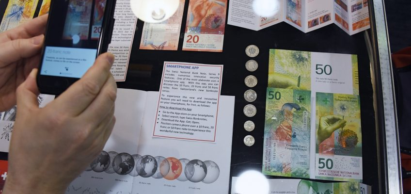 Swiss Banknotes complete with Augmented Reality App