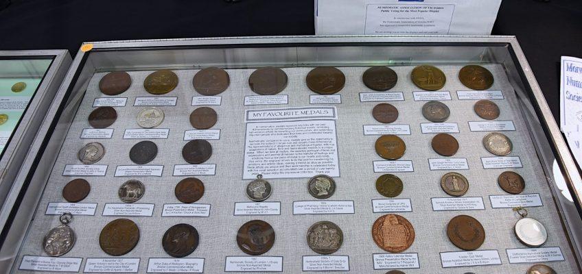 Award winning display with stunning examples of medallic art