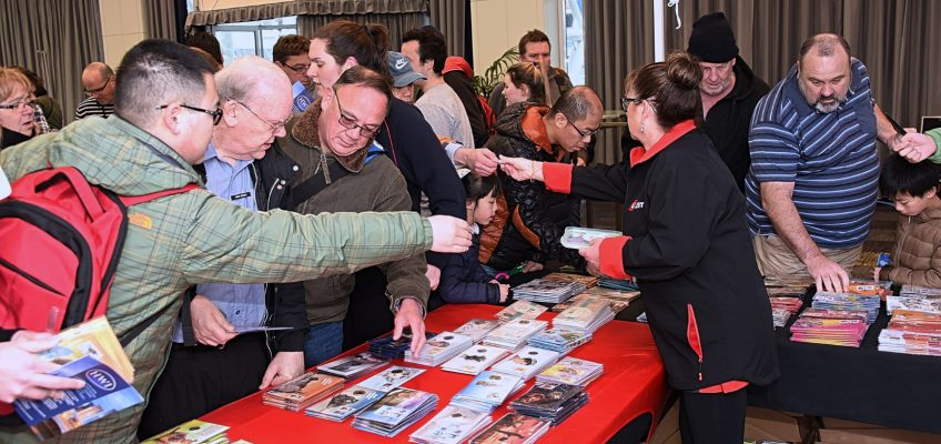 The Australia Post stand proved very popular on both days