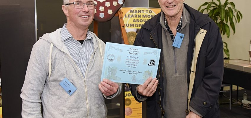 Winner of the Peter Wall Award for best display of Coins & Tokens