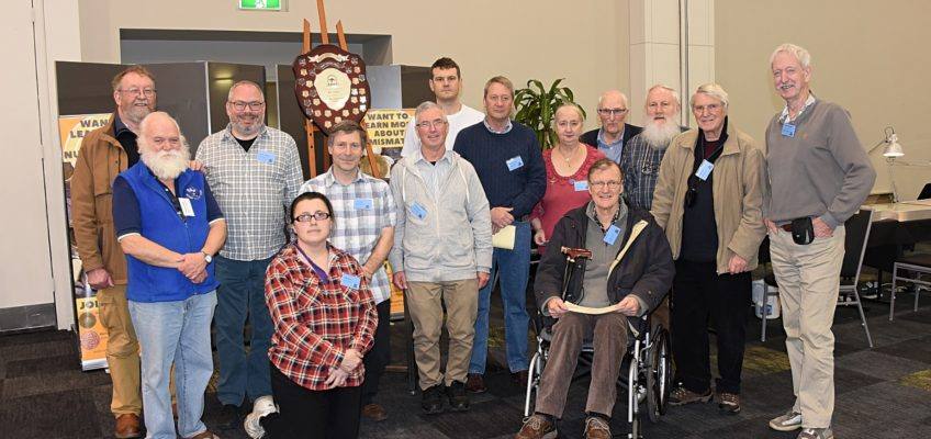Members of the Numismatic Association of Victoria, and Melbourne & Geelong Numismatic Societies at the end of a rewarding weekend