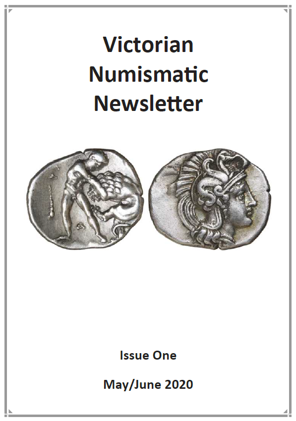 Cover of Newsletter featuring and ancient Greek Calabria/Taras